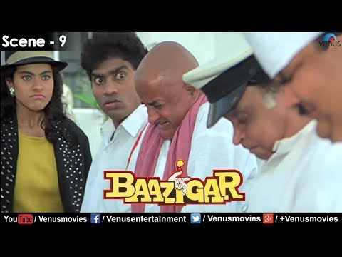 Kajol gets Irritated with Johnny Lever (Baazigar)