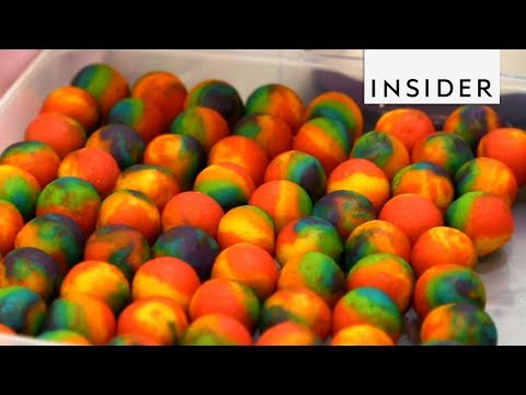 How Rainbow Cake Balls Are Made