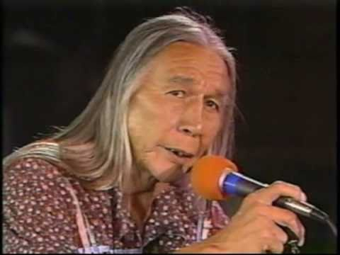 Floyd Red Crow Westerman performs at the Rainbow Warrior Festival, 1988