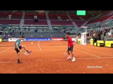 Novak Djokovic trick shot - Mutua Madrid Open 2016