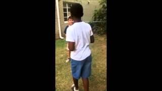 two lil kids fight