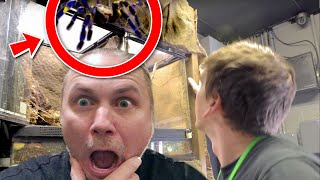 DANGEROUS TARANTULA IS LOOSE IN MY REPTILE ZOO!! | BRIAN BARCZYK