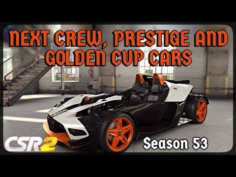 csr racing 2 next prestige, crew and legendary cup cars
