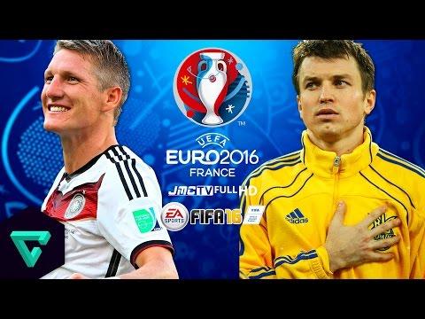 Germany vs. Ukraine | UEFA Euro 2016 Simulation | FIFA 16