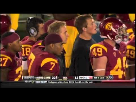 Notre Dame GOAL-LINE STAND vs USC and the dumbest coach in America... Lane Kiffin