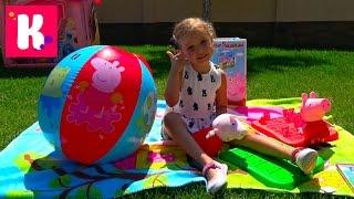 СУПЕР огромная коробка с игрушками  Свинка Пеппа / Обзор игрушек