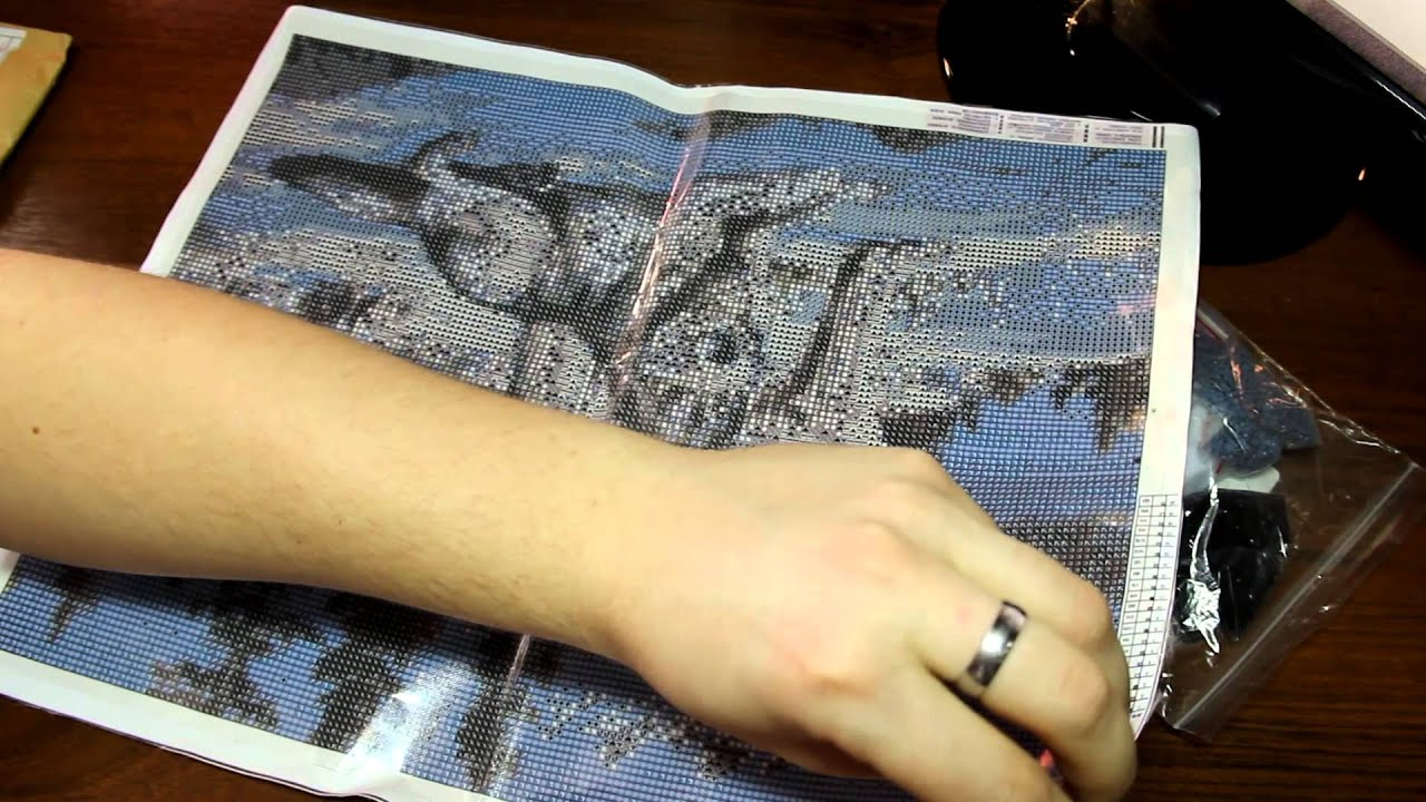 Алмазная вышивка пришла со сгибами как от них избавиться