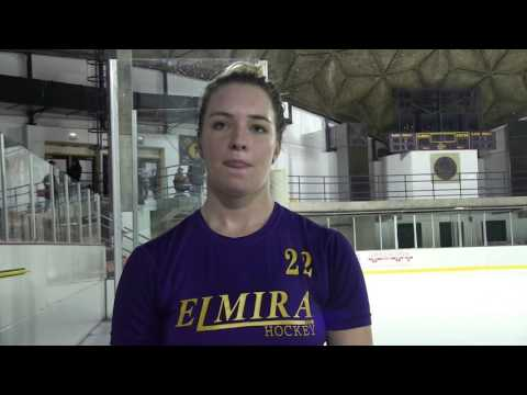 Elmira College Women's Ice Hockey Post-Game Interview with Meghan Fanfara '18