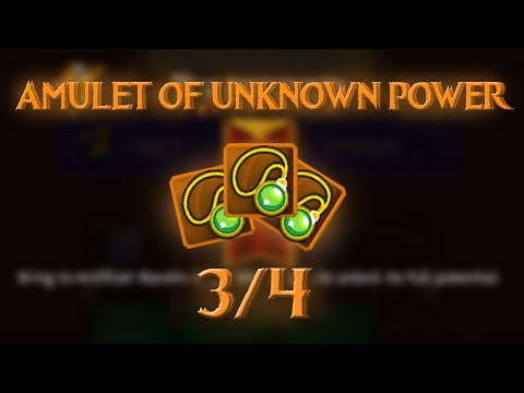 SET MYTHIC//AMULET OF UNKNOWN POWER 3/4//ARCANE LEGENDS