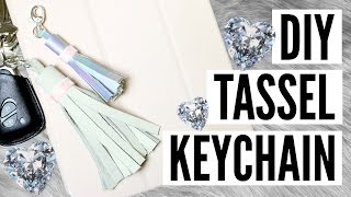 CHEAP & EASY DIY Tassel Keychain Tutorial | TutorialsByA