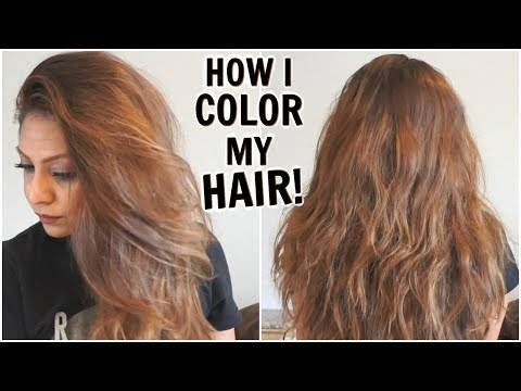 How I Dye My Hair Light Golden Brown at Home│How I Color My Hair From Dark To Light│DIY Root Touchup