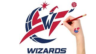 Fast Drawing And Coloring For Toddlers - NBA Washington Wizards - Puzzle Kid