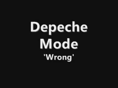 Depeche Mode - Wrong + lyrics