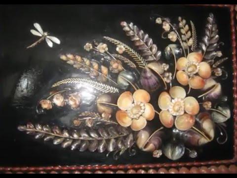 Картина  из ракушек фото