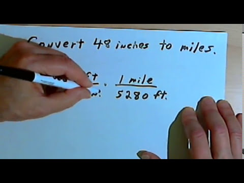 Converting between Inches, Feet, Yards and Miles 128-2.4