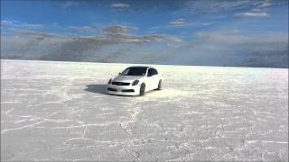 G35 Drifting on Salt