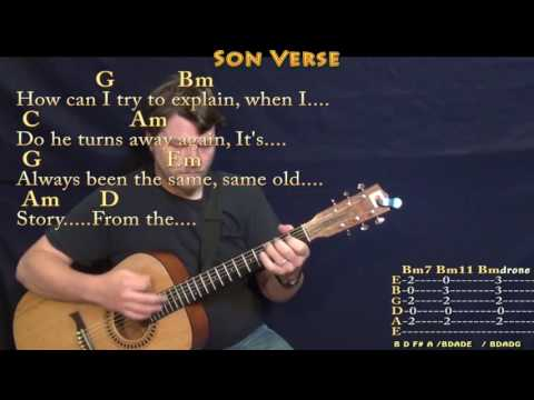 Father and Son (Cat Stevens) Guitar Lesson Chord Chart with Chords/Lyrics