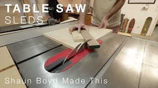 Table Saw Sleds - the reason I don't own a miter saw