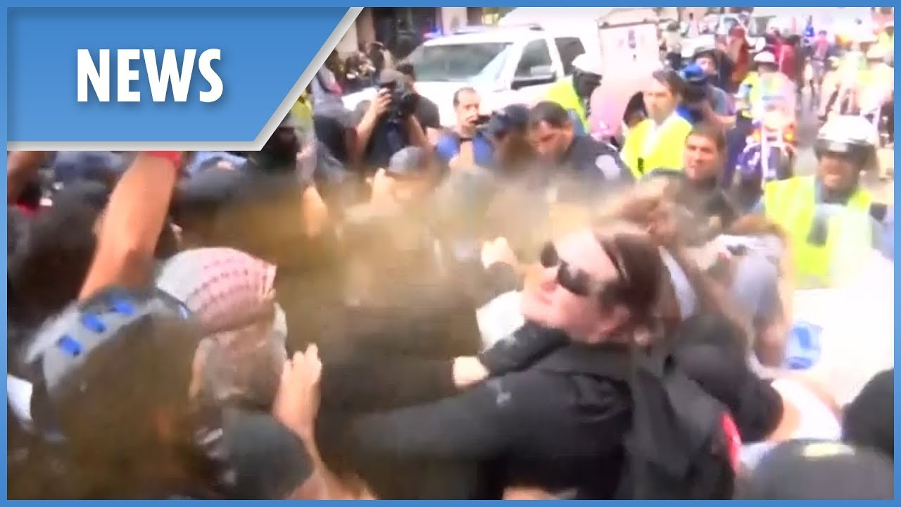 D.C. Protests: Police spray demonstrators as tensions rise