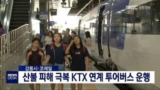 산불 피해 극복 KTX 연계 투어버스 운행