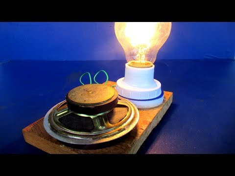 Light bulbs 220 Volts Free energy generator Using Magnets - Science project at home thumbnail