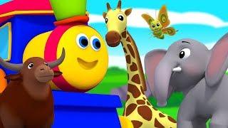 บ๊อบรถไฟ | สัตว์ ABC | เรียนรู้ชื่อสัตว์ | เพลงตัวอักษร | Nursery Rhyme | Bob Train | Bob Animal ABC