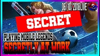 [ENG/한국어] Playing Mobile Legends Secretly At Work / North America Marksman