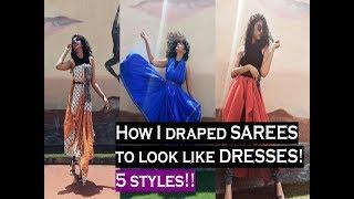 How to wear a SAREE as a DRESS | 5 Ways | PinkPepperCorn
