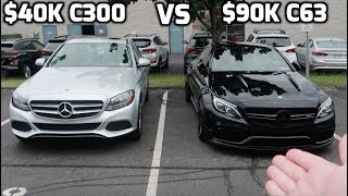 Is it worth $50K MORE!? 2018 Mercedes AMG C63s VS 2018 Mercedes C300