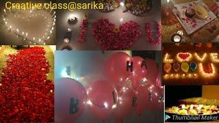 Romantic #birthday #surprise #roomdecoration ideas for husband.