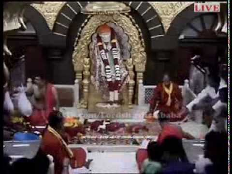 Lord Shirdi Sai Baba's Live Video With ome Sri Sainathaya Nama: video