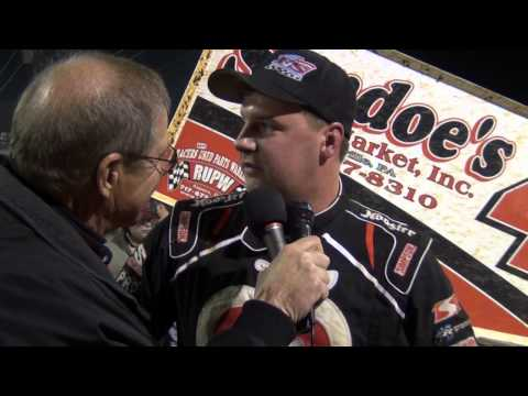 Lincoln Speedway 410 Sprint Car Victory Lane 10-11-14