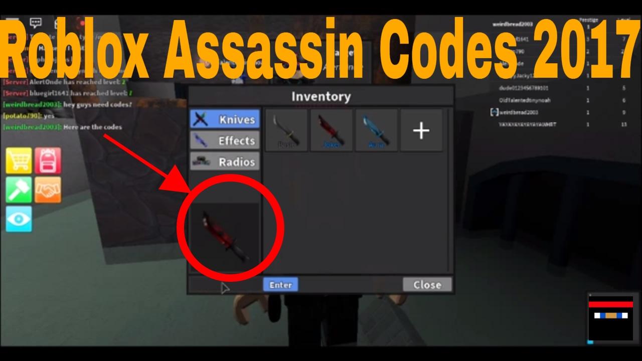roblox assassin value list