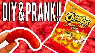 DIY Hot Cheetos Puff & PRANK!!