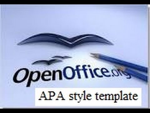 APA style basic formatting (title page and running head in OpenOffice)