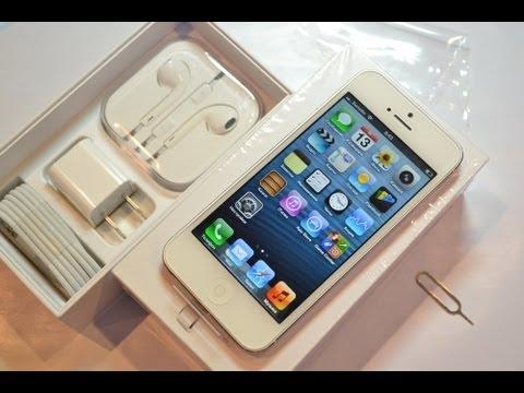 Распаковка iPhone 5 (unboxing): первое включение и комплект