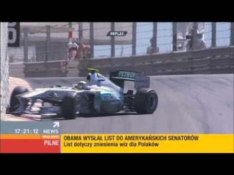 F1 GP Monaco 2011 Sergio Perez CRASH/WYPADEK Nico Rosberg CRASH.
