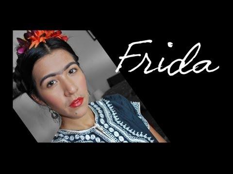 Frida Kalho Maquillaje y Peinado