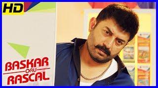 Bhaskar Oru Rascal Scenes   Title Credits   Arvind Swamy intro   Soori Comedy   Master Raghavan
