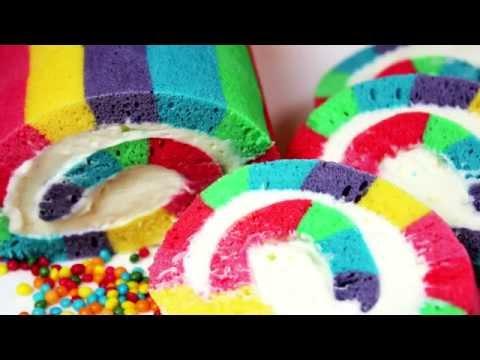 ❤ RAINBOW ❤ ROLL CAKE  *:..。o○☆*゚