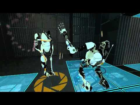 Let's Play Portal 2 (Co-op) - Part 2 - We Do What We Must, Because We Can