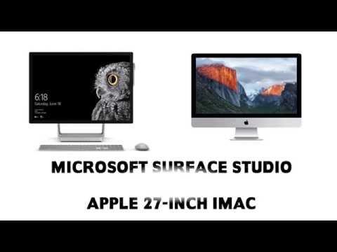 Microsoft Surface Studio Vs Apple IMac Specification Comparison