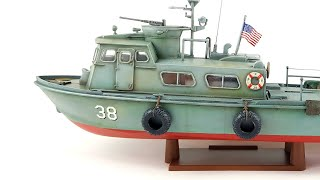US NAVY Swift Boat PCF Time lapse Revell 1:48 build video scale model turorial