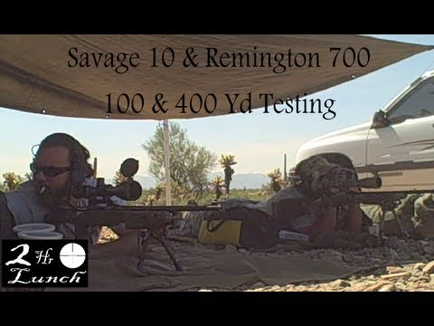 400 Yd Accuracy Test--223--243--308--Savage 10-110 & Remington 700 SPS