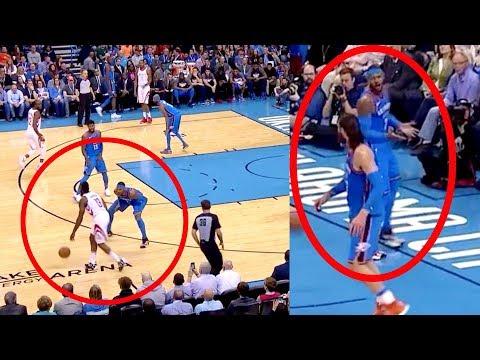 Melo CURSES at Adams | James Harden Exposes Carmelo Anthony's Defense (Random Moments)