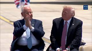 President Trump Arrives in Israel & Gives Speech on Tarmac