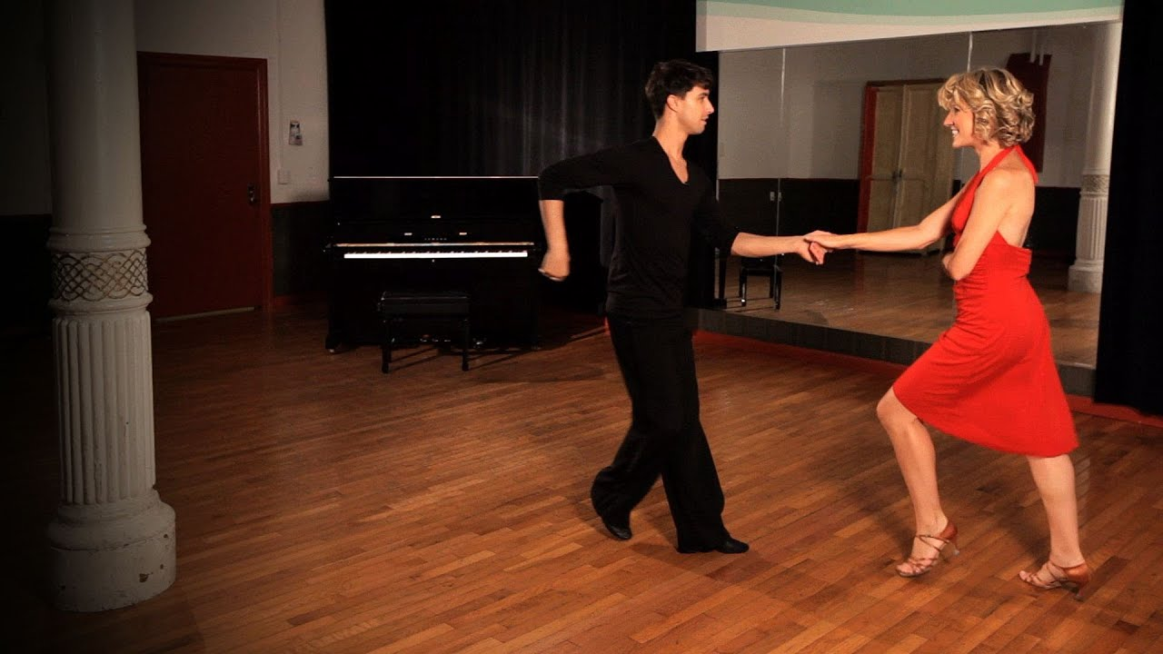how to do a mambo change of place step ballroom dance