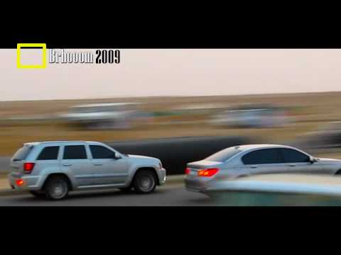 Jeep SRT8 VS 2009 BMW 740LI - جيب جراند شروكي مع بي ام دبليو
