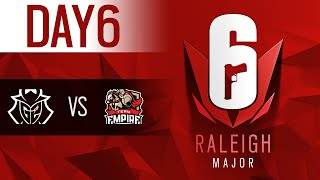 Six Major Raleigh Day6 決勝トーナメント 決勝戦 優勝はどのチームに!?