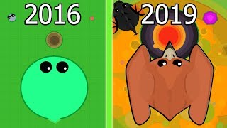 Evolution of Mope.io 2016-2019 (All Updates)